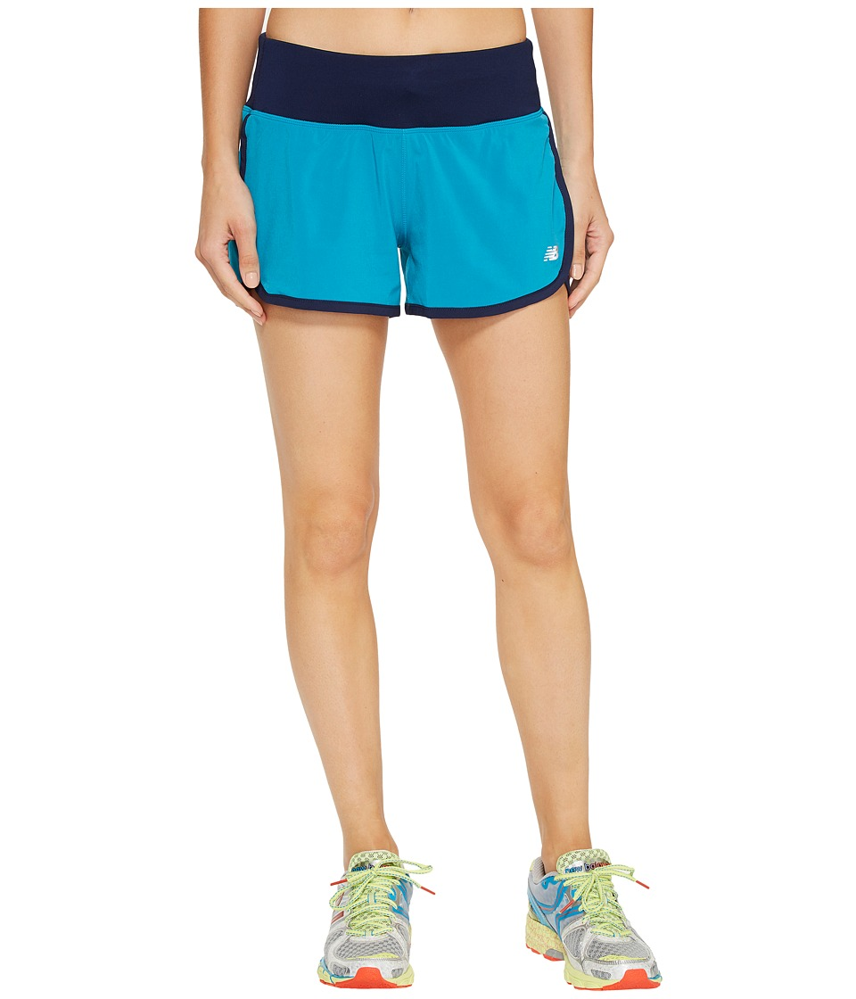 New Balance - Impact 3 Shorts (Deep Ozone Blue/Pigment) Women's Shorts