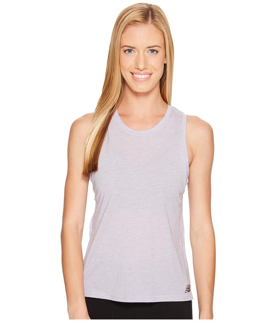 New Balance - Cotton Tank Top (Cosmic Sky Heather) Women's Sleeveless