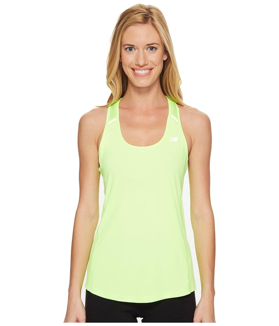 New Balance - NB Ice Tank Top (Lime Glo) Women's Sleeveless