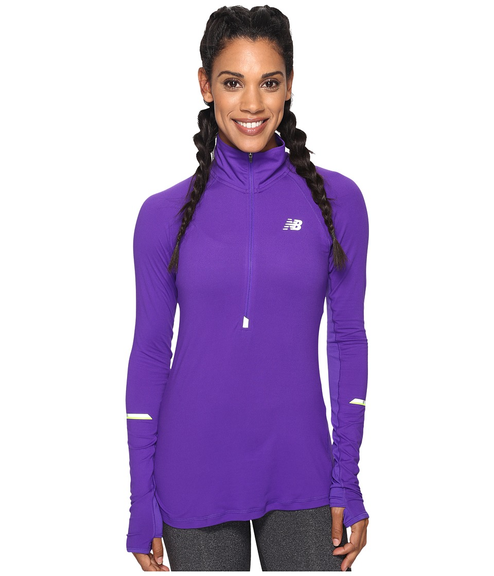 New Balance Impact Half Zip (Deep Violet) Women