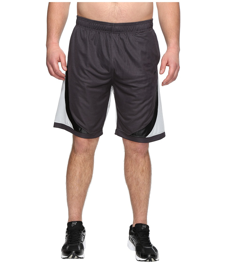 Fila - Action Shorts (Nine Iron/High-Rise/Black) Men's Shorts