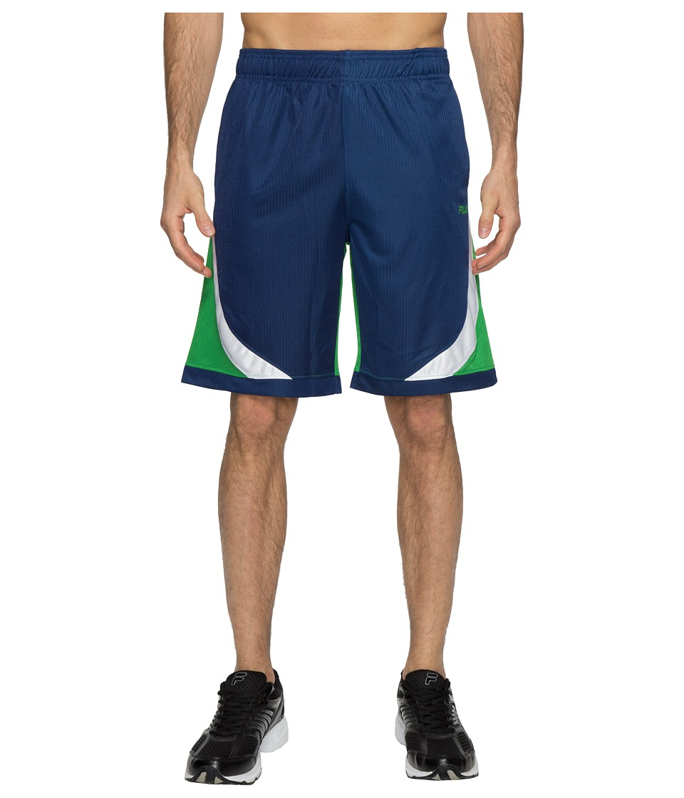 Fila - Action Shorts (Estate Blue/Fern Green/White) Men's Shorts