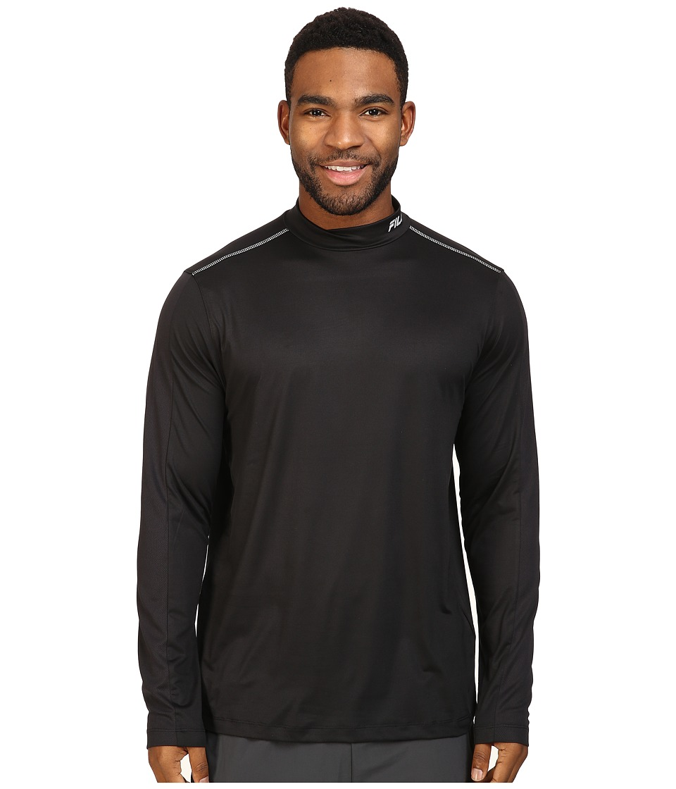 Fila - Base Layer Long Sleeve Top (Black) Men's Clothing