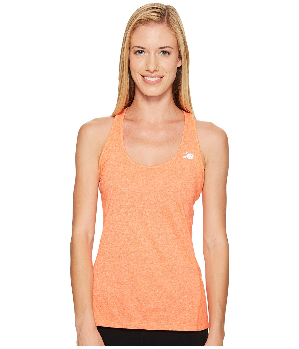 New Balance - Heathered Tank Top (Alpha Orange Heather) Women's Sleeveless