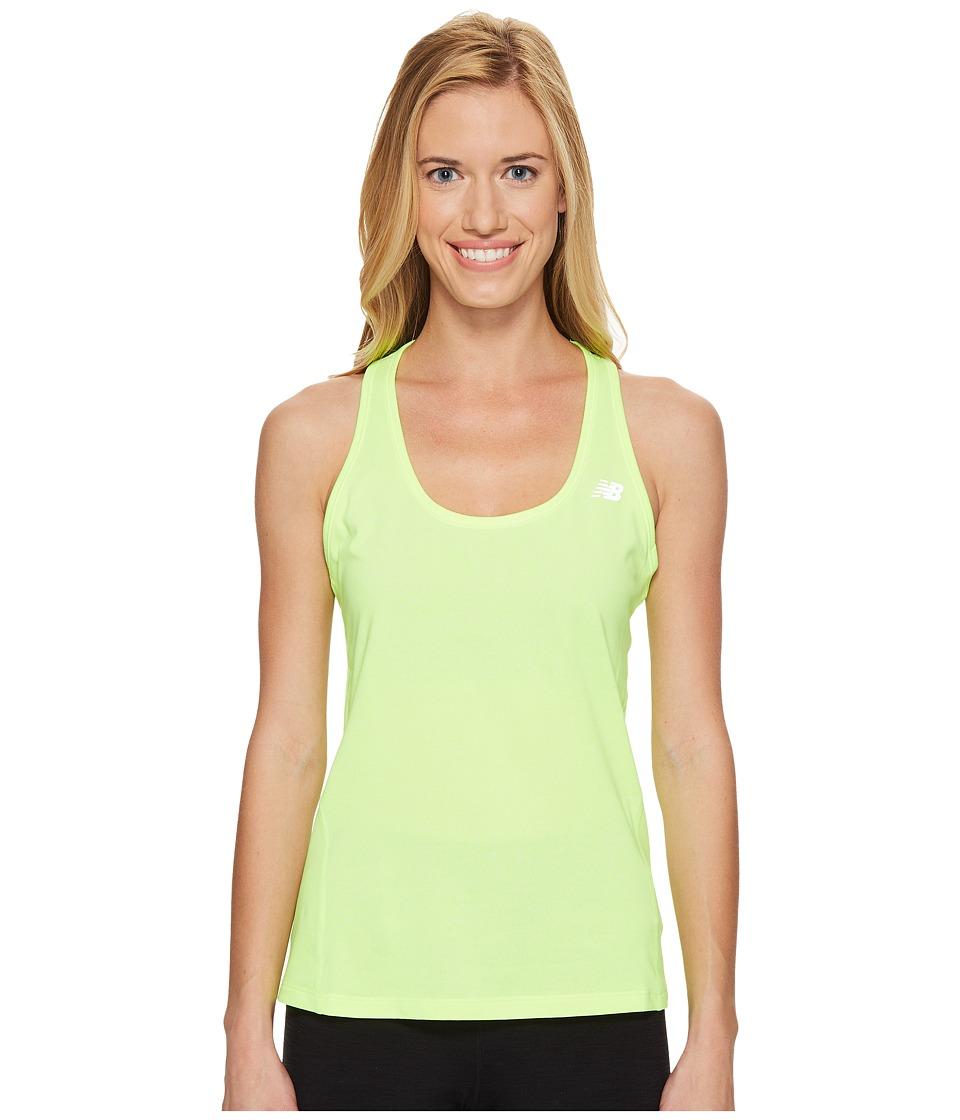 New Balance Heathered Tank Top (Lime Glo Heather) Women