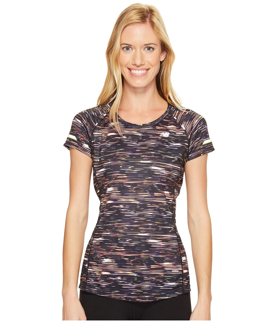 New Balance - NB Ice Short Sleeve Print (Multi Intensity Stripe) Women's T Shirt