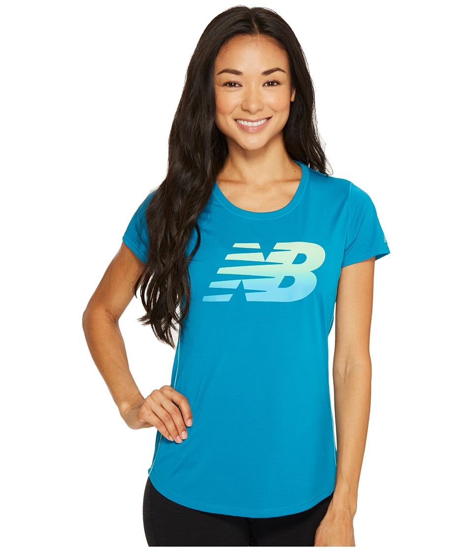 New Balance - Accelerate Short Sleeve Graphic Top (Ombre) Women's Short Sleeve Pullover