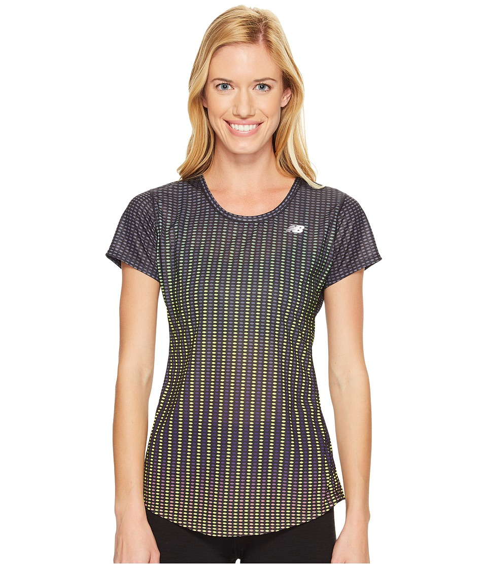 New Balance - Accelerate Short Sleeve Graphic Top (Placed Digital Ovals) Women's Short Sleeve Pullover