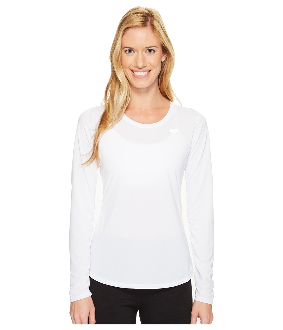 New Balance - Accelerate Long Sleeve (White) Women's Long Sleeve Pullover