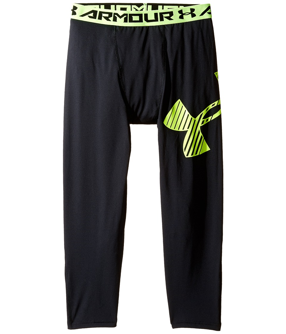 Under Armour Kids - Armour 3/4 Logo Leggings (Big Kids) (Black) Boy's Casual Pants