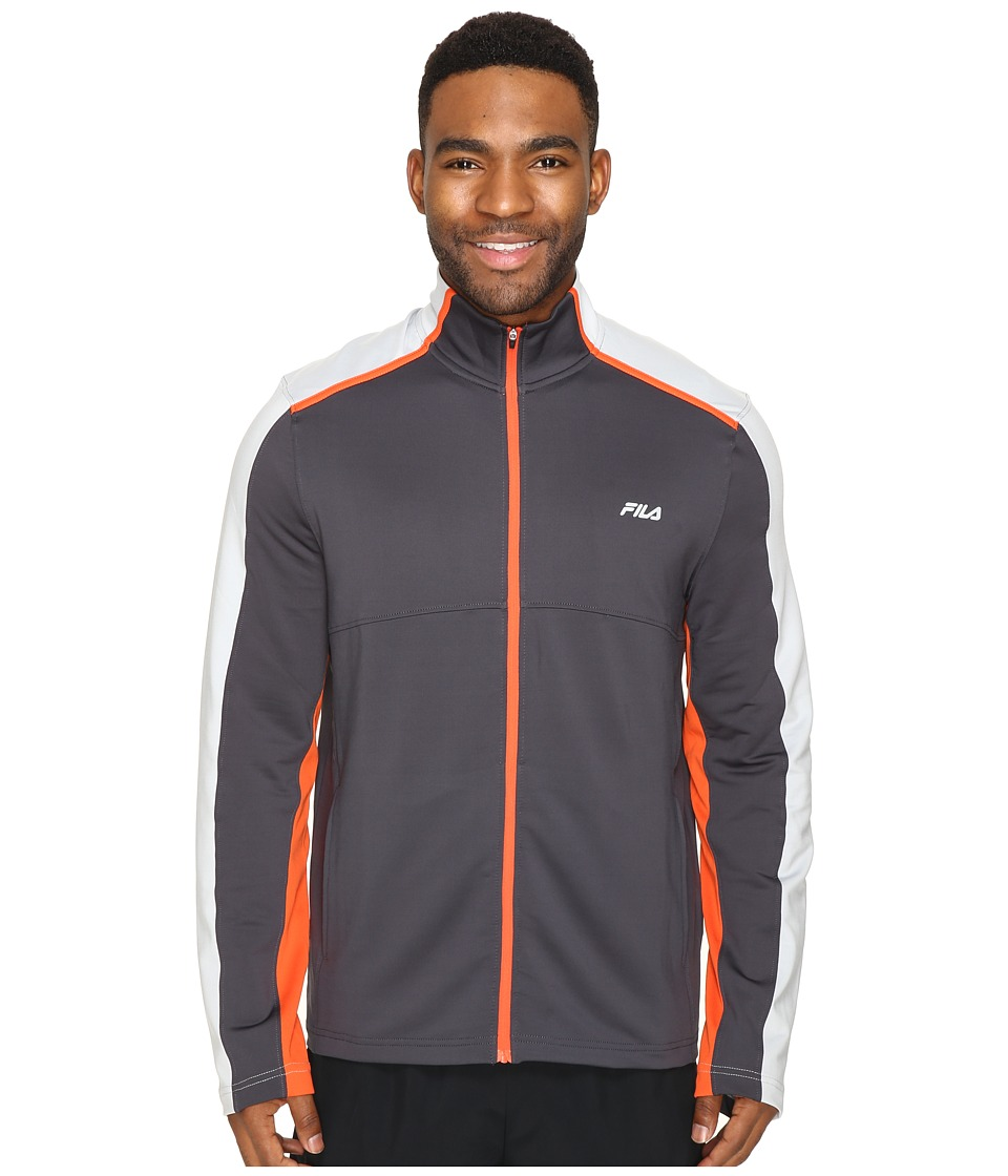 Fila - Strength Jacket (Nine Iron/High-Rise/Sunrise Orange) Men's Coat