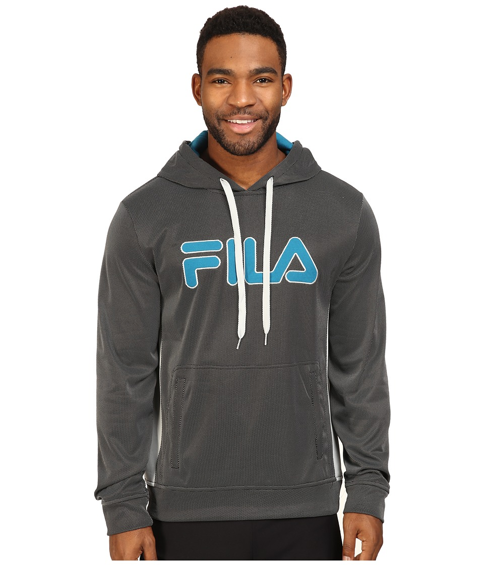 Fila Blitz Hoodie (Black/High-Rise/Turkish Teal) Men