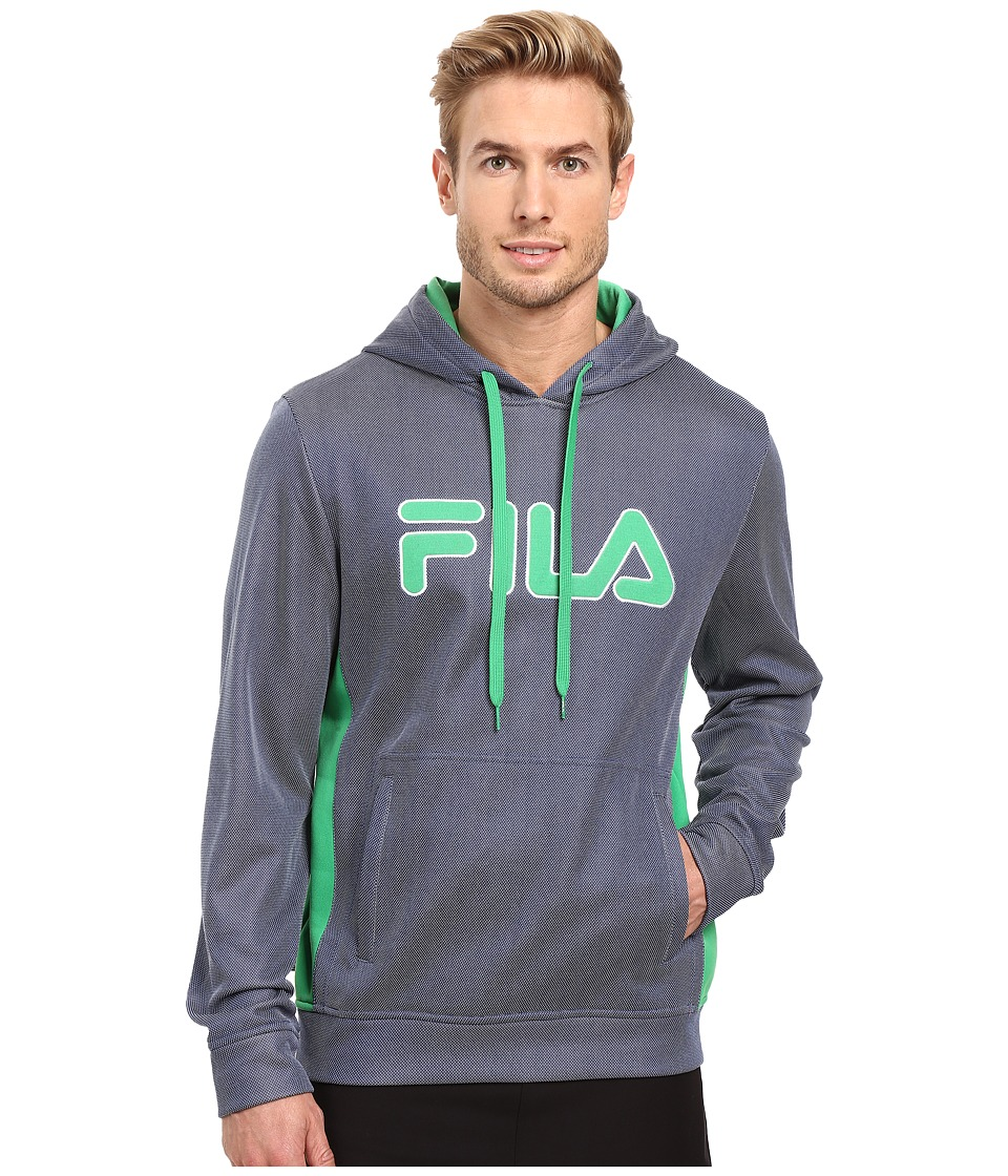 Fila - Blitz Hoodie (Estate Blue/Fern Green/White) Men's Sweatshirt