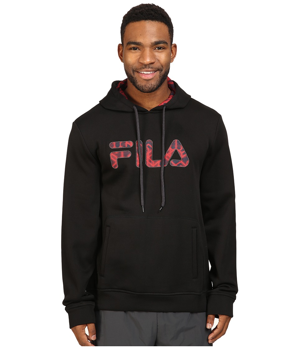 Fila - Geo Hoodie (Black/Nine Iron) Men's Sweatshirt