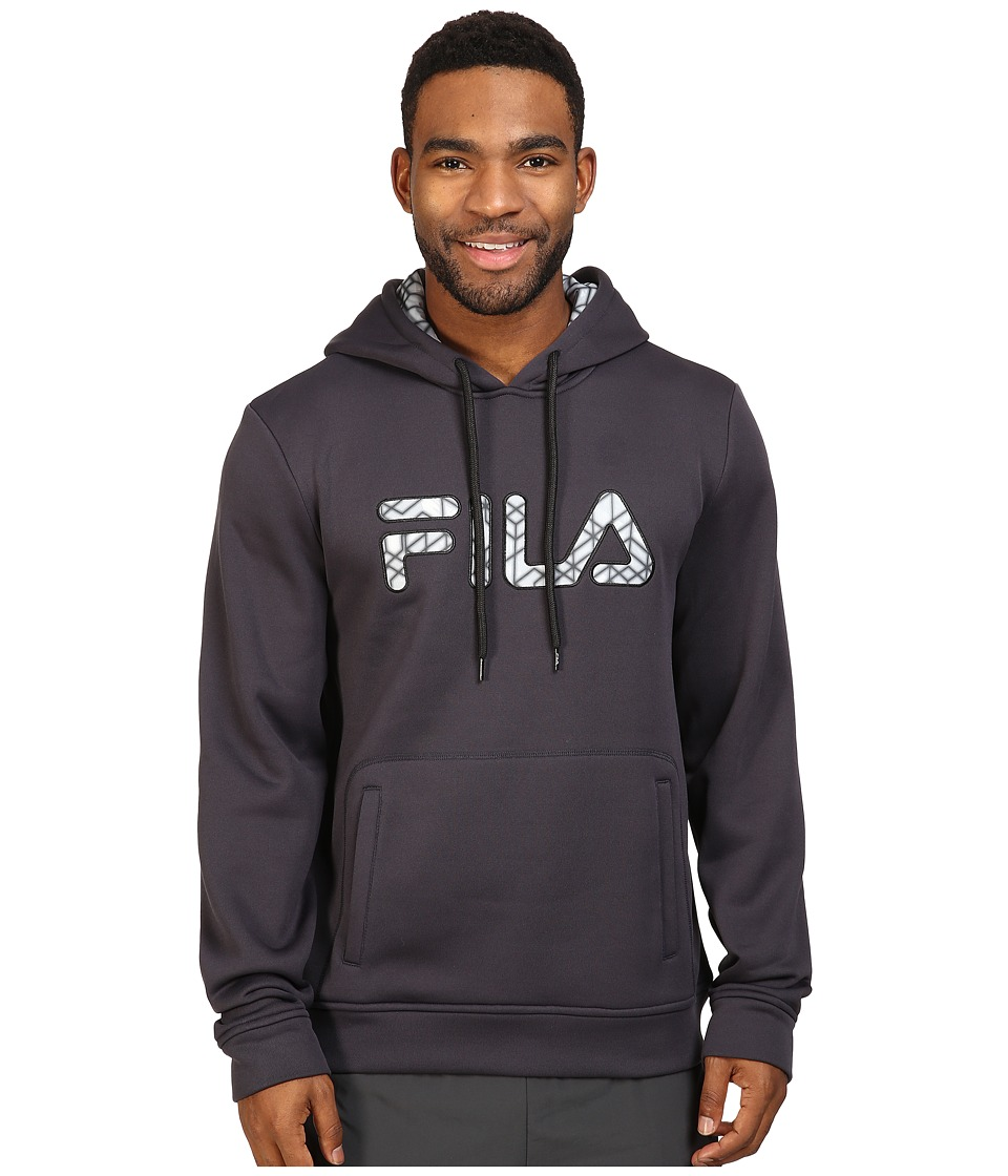 Fila - Geo Hoodie (Nine Iron/Black) Men's Sweatshirt