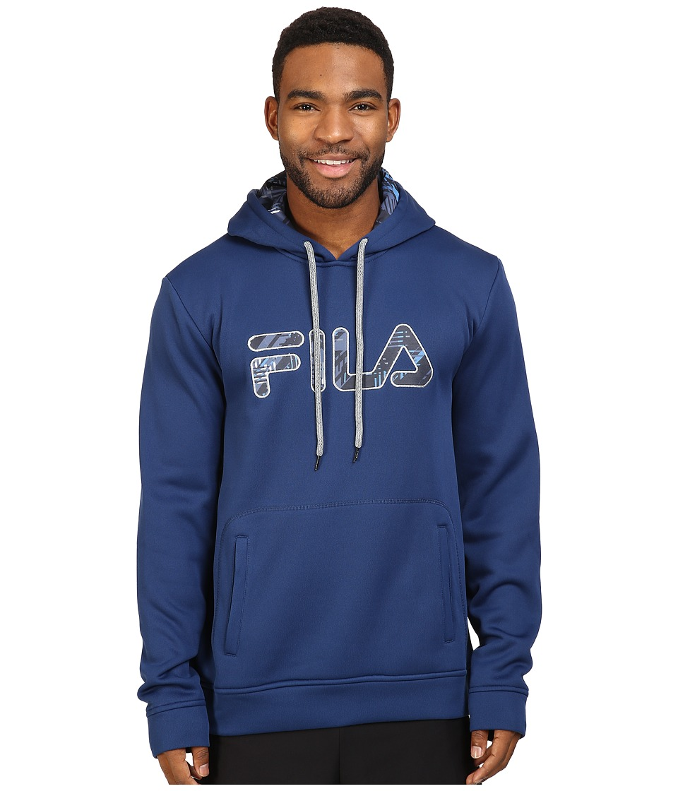 Fila - Geo Hoodie (Estate Blue/High-Rise) Men's Sweatshirt