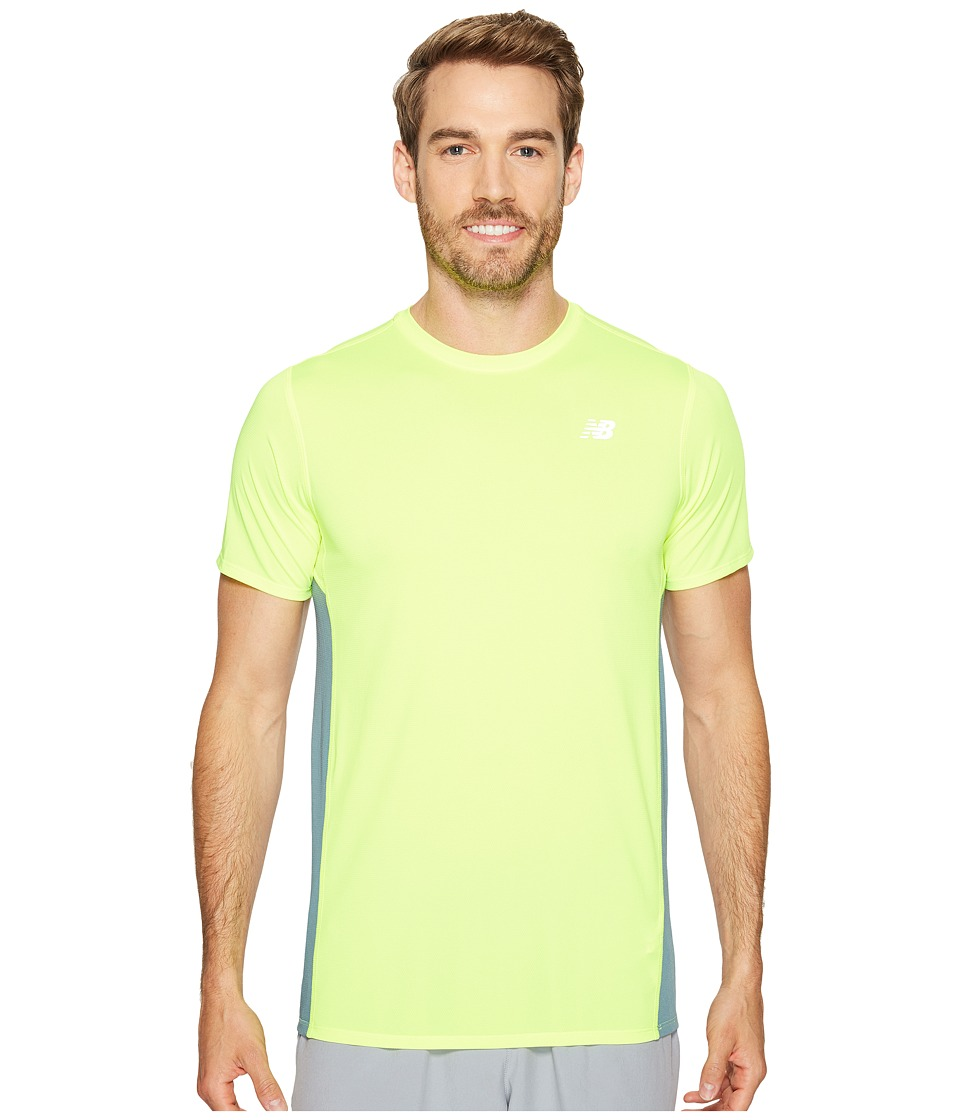 New Balance - Accelerate Short Sleeve (Hi-Lite/Typhoon) Men's Clothing