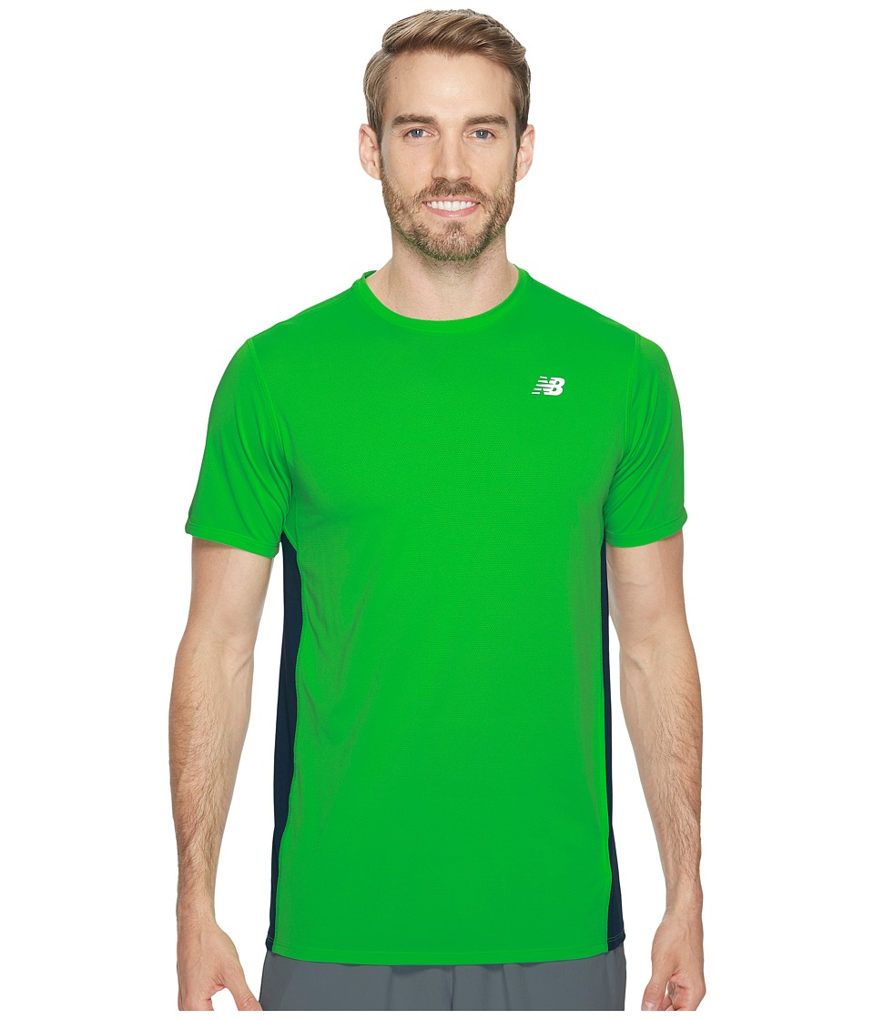 New Balance - Accelerate Short Sleeve (Vivid Cactus/Supercell) Men's Clothing