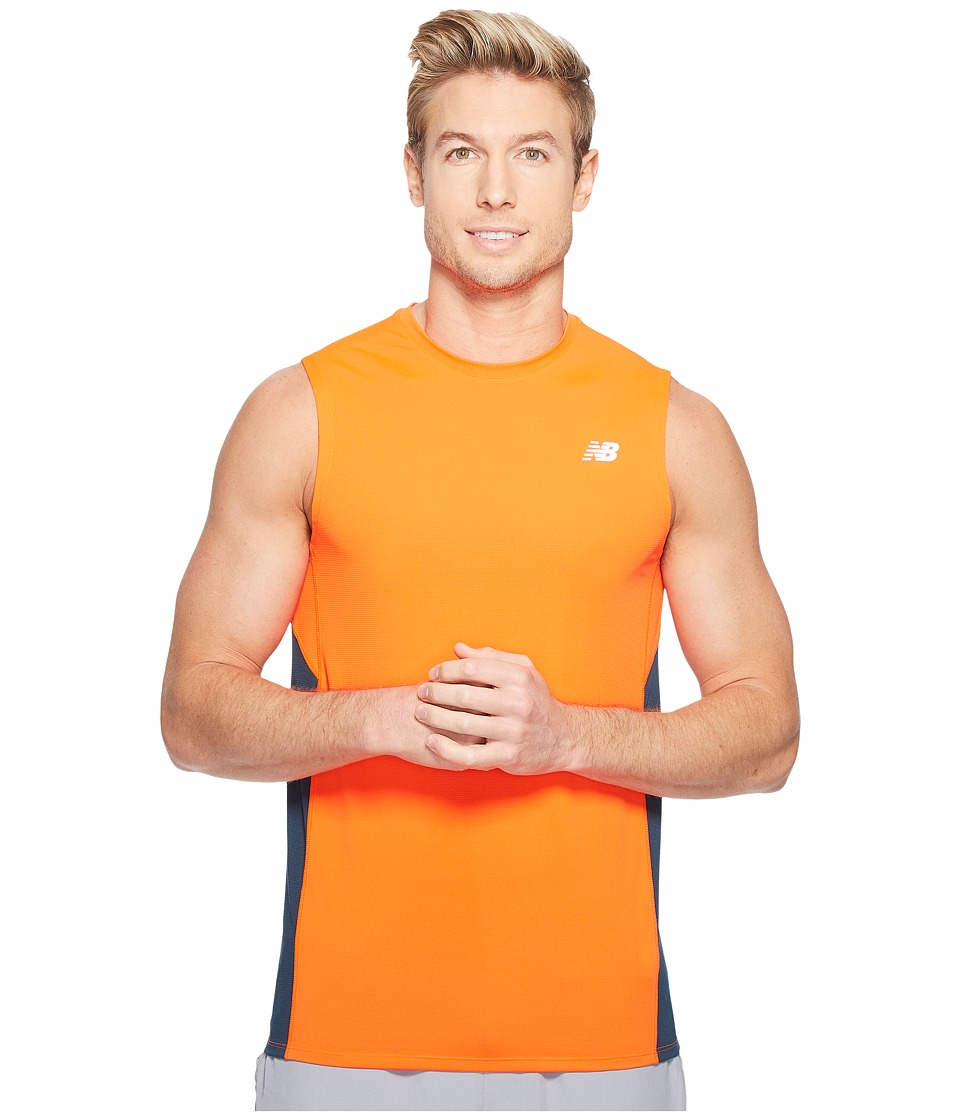 New Balance - Accelerate Sleeveless (Alpha Orange/Supercell) Men's Sleeveless