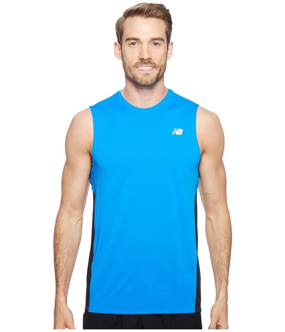 New Balance - Accelerate Sleeveless (Electric Blue/Black) Men's Sleeveless
