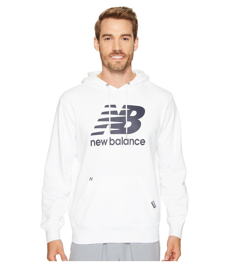 New Balance - Classic Pullover Hoodie (White) Men's Sweatshirt