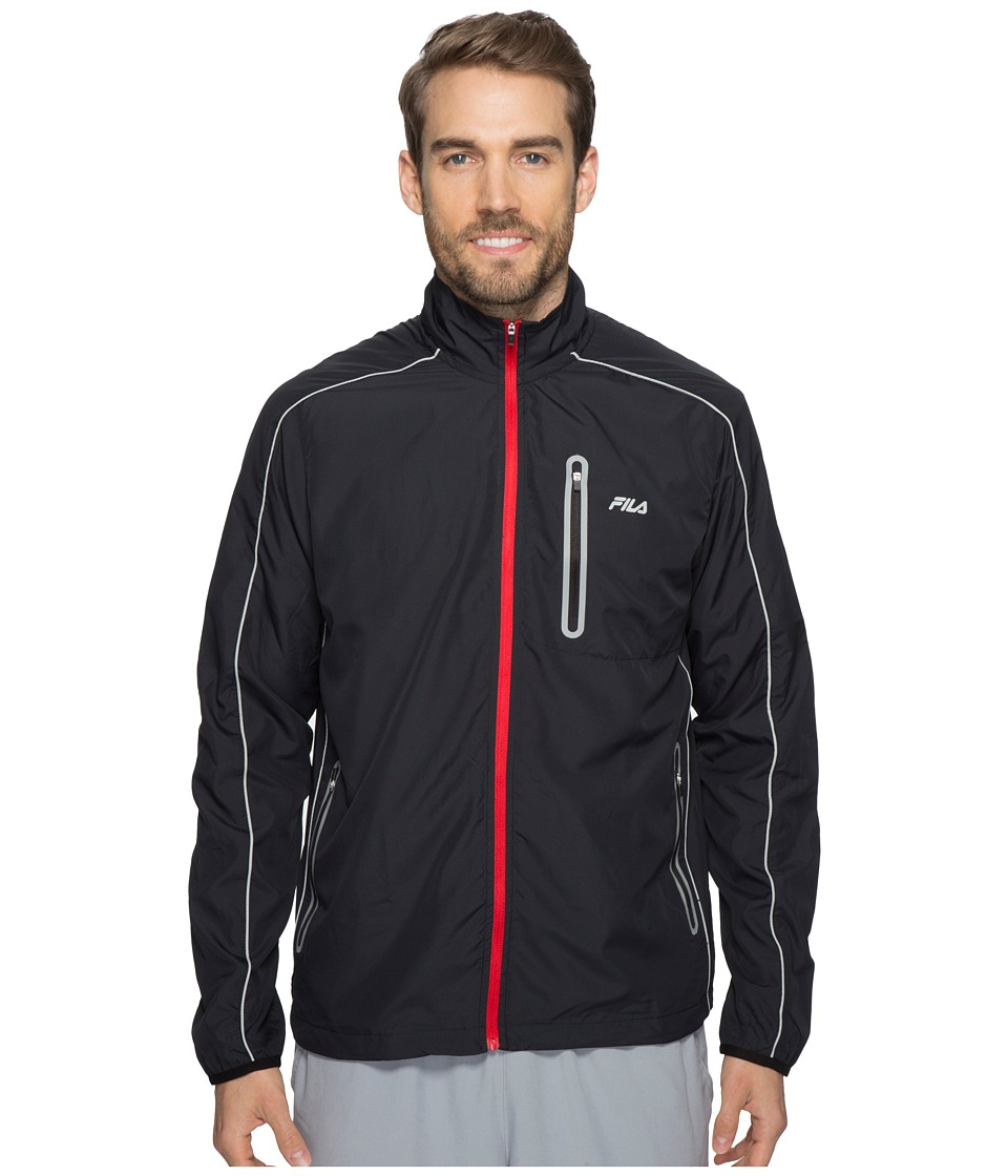 Fila - Noho Jacket (Black/High-Rise/Chinese Red) Men's Coat