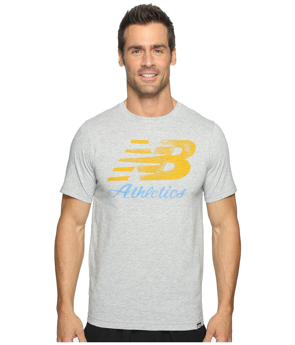 New Balance - Flying Script Tee (Athletic Grey) Men's T Shirt