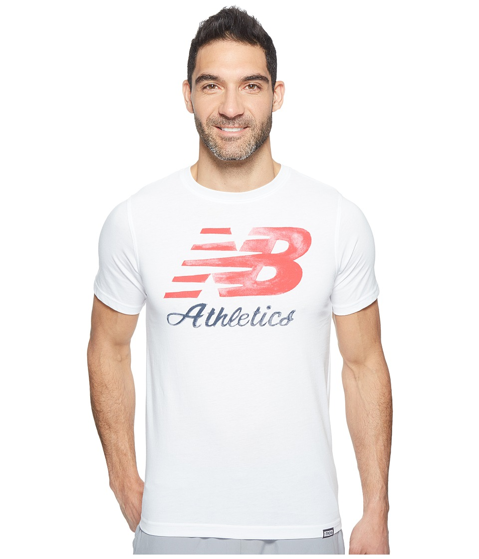 New Balance Flying Script Tee (White) Men