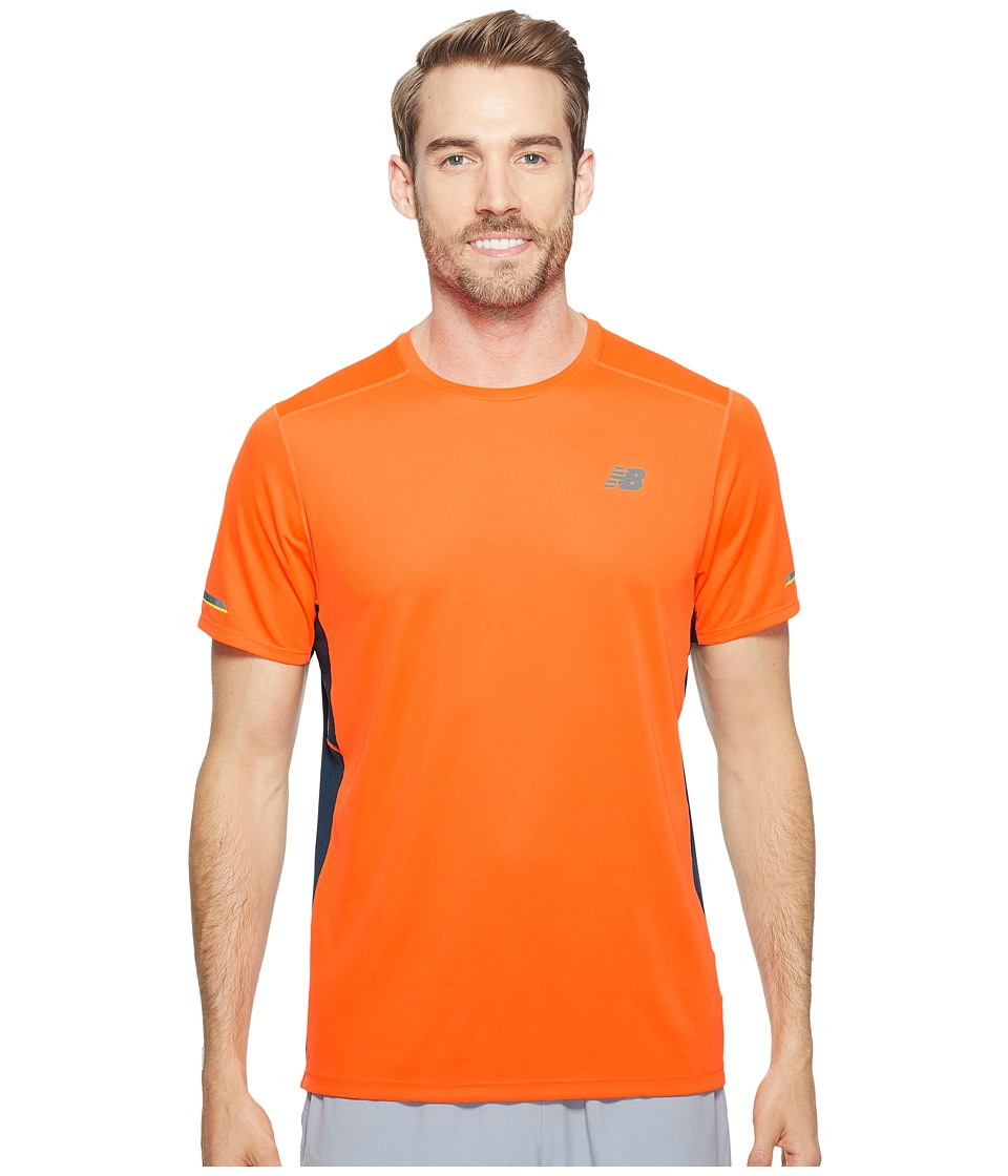 New Balance - NB Ice Short Sleeve (Alpha Orange) Men's Clothing