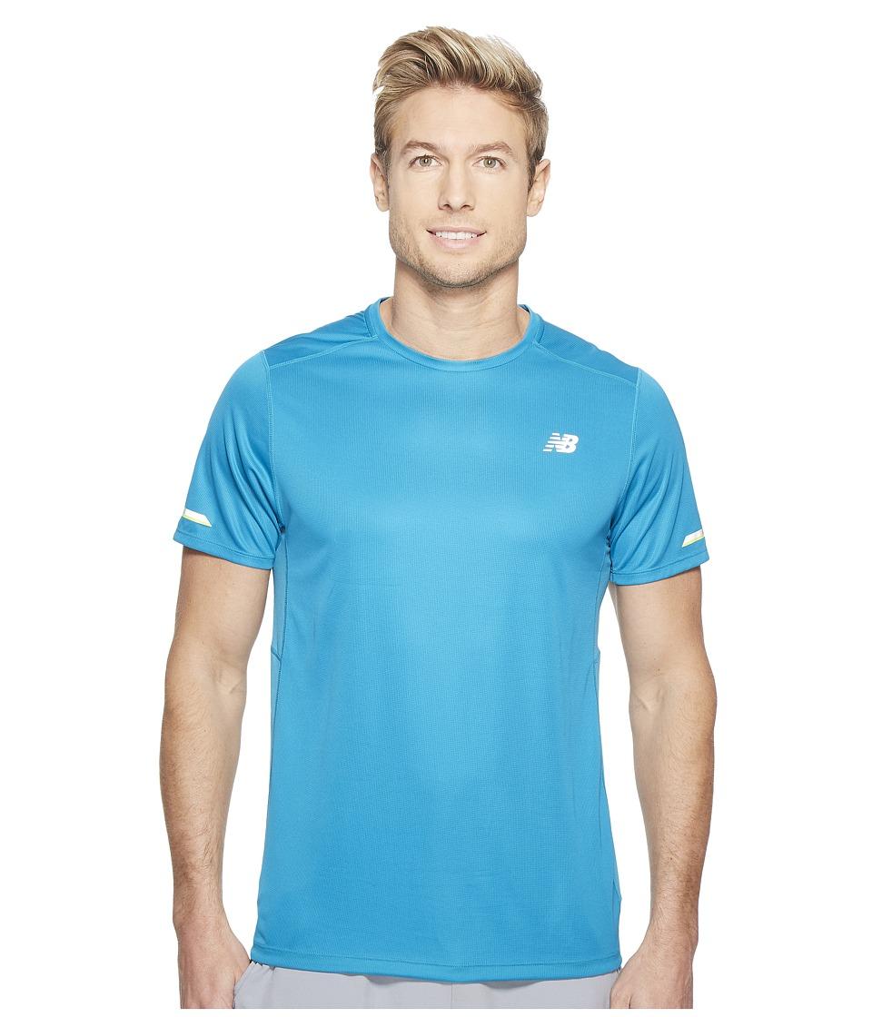New Balance - NB Ice Short Sleeve (Deep Blue Ozone) Men's Clothing