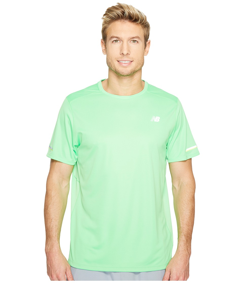 New Balance - NB Ice Short Sleeve (Vivid Cactus) Men's Clothing