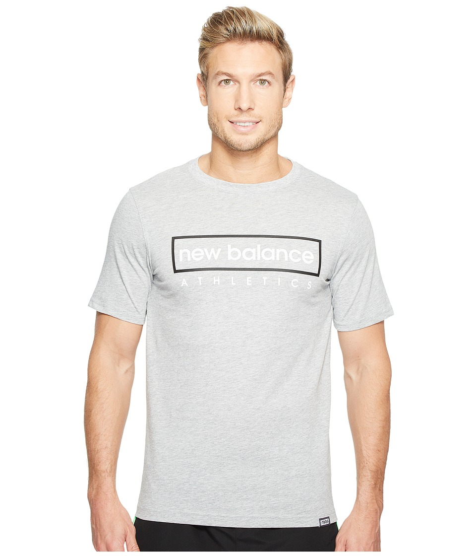 New Balance - Box Tee (Athletic Grey) Men's T Shirt