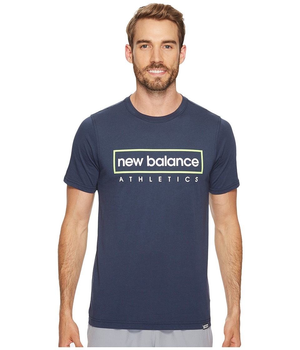 New Balance - Box Tee (Navy) Men's T Shirt