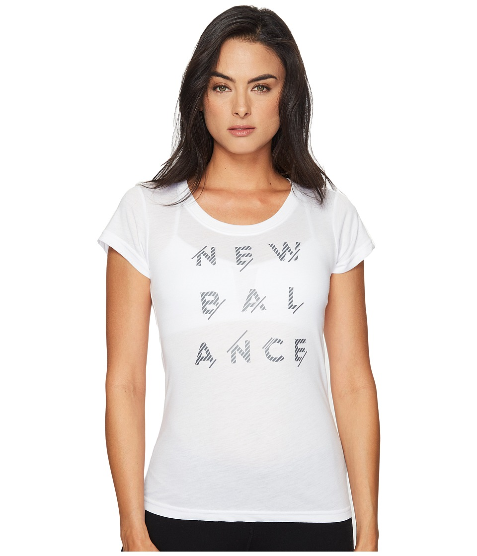 New Balance - Sport Style Tee (White) Women's T Shirt