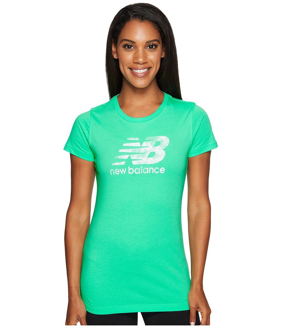 New Balance - Batik Logo Tee (Vivid Jade) Women's T Shirt