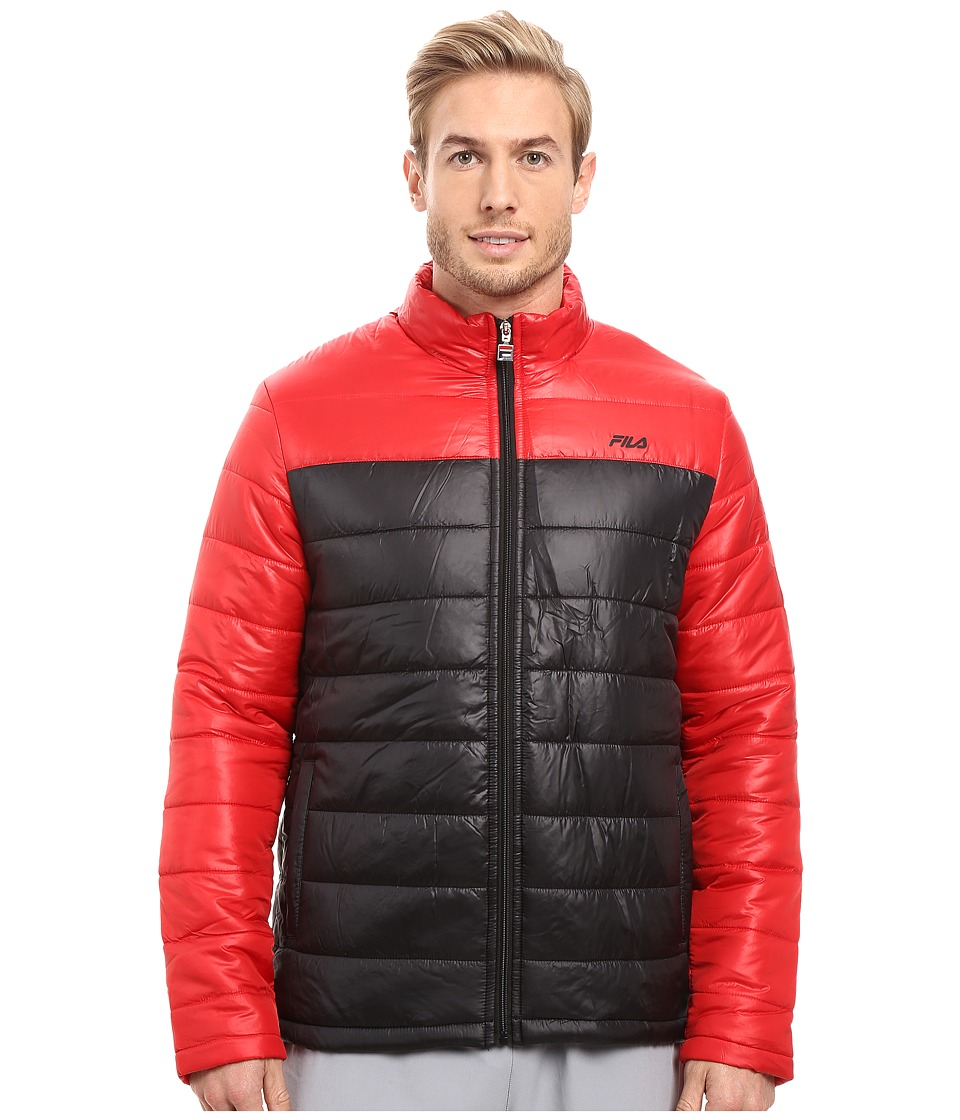 Fila - Dynamic Jacket (Black/Chinese Red) Men's Coat