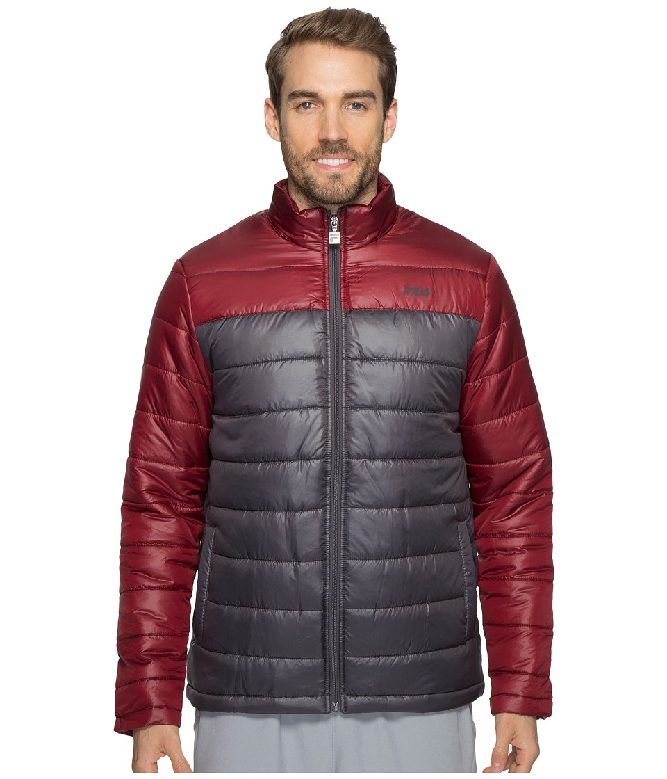Fila - Dynamic Jacket (Nine Iron/Cabernet) Men's Coat