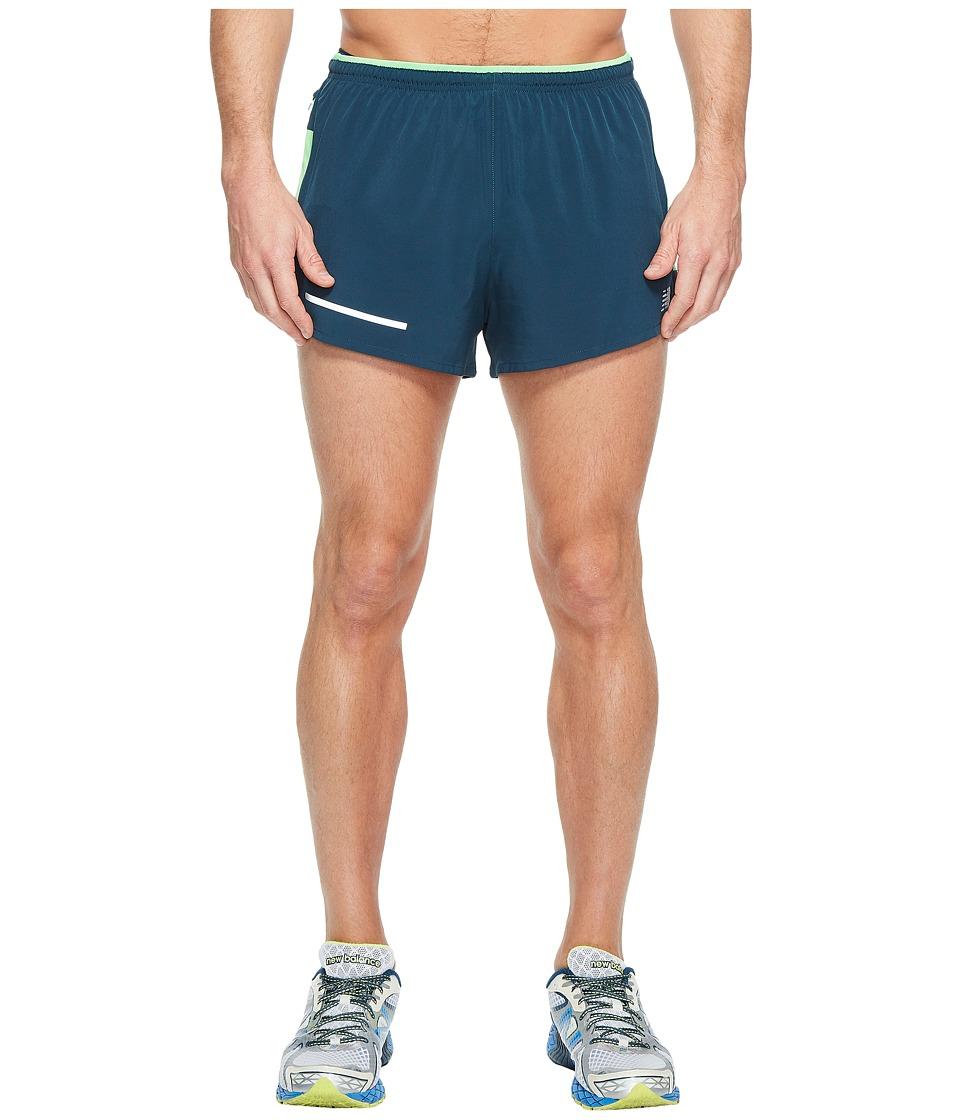 New Balance - Impact Split Shorts (Supercell) Men's Shorts