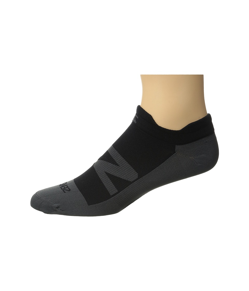 Zensah - Invisi No-Show Running Sock 3-Pack (Black) No Show Socks Shoes
