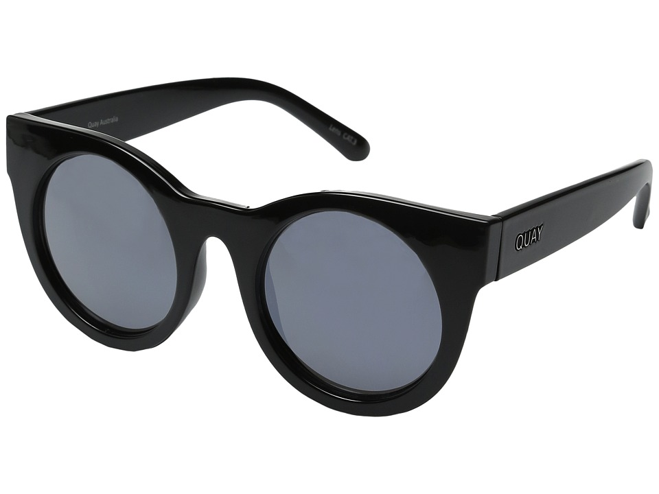 QUAY AUSTRALIA - Right Time (Black/Lilac Mirror) Fashion Sunglasses