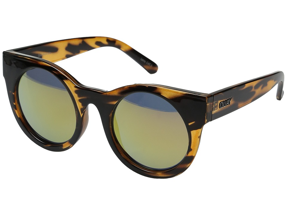 QUAY AUSTRALIA - Right Time (Tort/Gold Mirror) Fashion Sunglasses