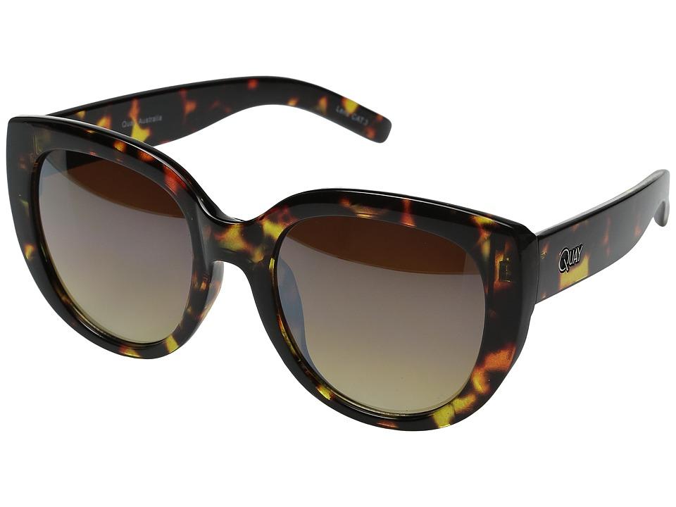 QUAY AUSTRALIA - St Capri (Tort/Silver Mirror) Fashion Sunglasses