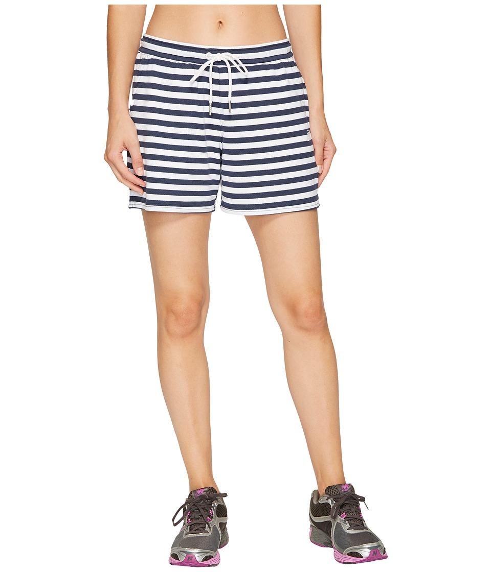 New Balance - Classic Fleece Shorts (White Multi) Women's Shorts