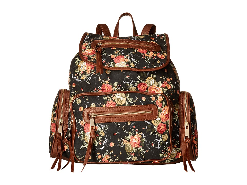 Gabriella Rocha - Vivi Floral Print Zipper Backpack (Black) Backpack Bags