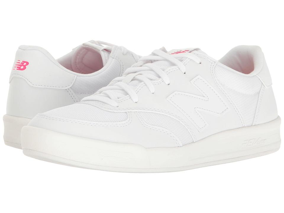 New Balance Classics - WRT300v1 (White/Alpha Pink) Women's Court Shoes