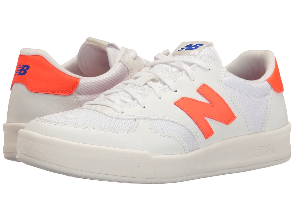 New Balance Classics - WRT300v1 (White/Alpha Orange) Women's Court Shoes