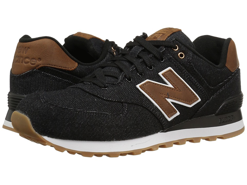 New Balance Classics - ML574v1 (Black/Brown) Men's Running Shoes