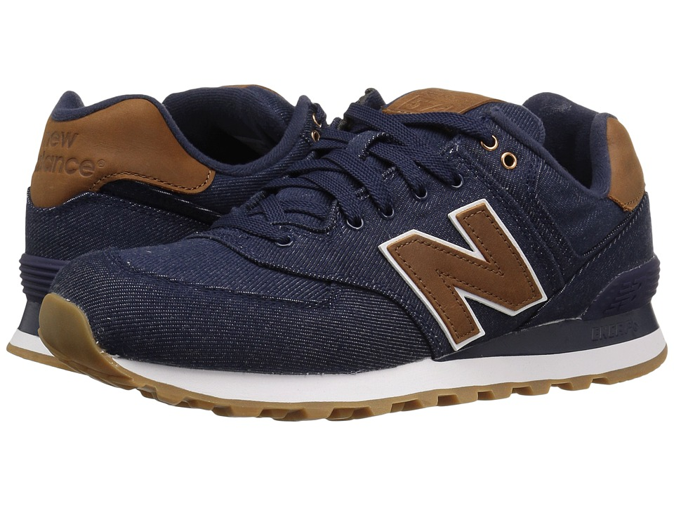 New Balance Classics - ML574v1 (Navy/Brown) Men's Running Shoes