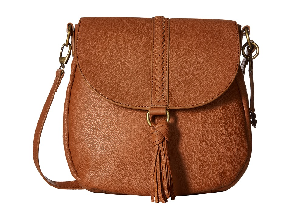 Lucky Brand - Ali Flap Crossbody (Tobacco) Cross Body Handbags