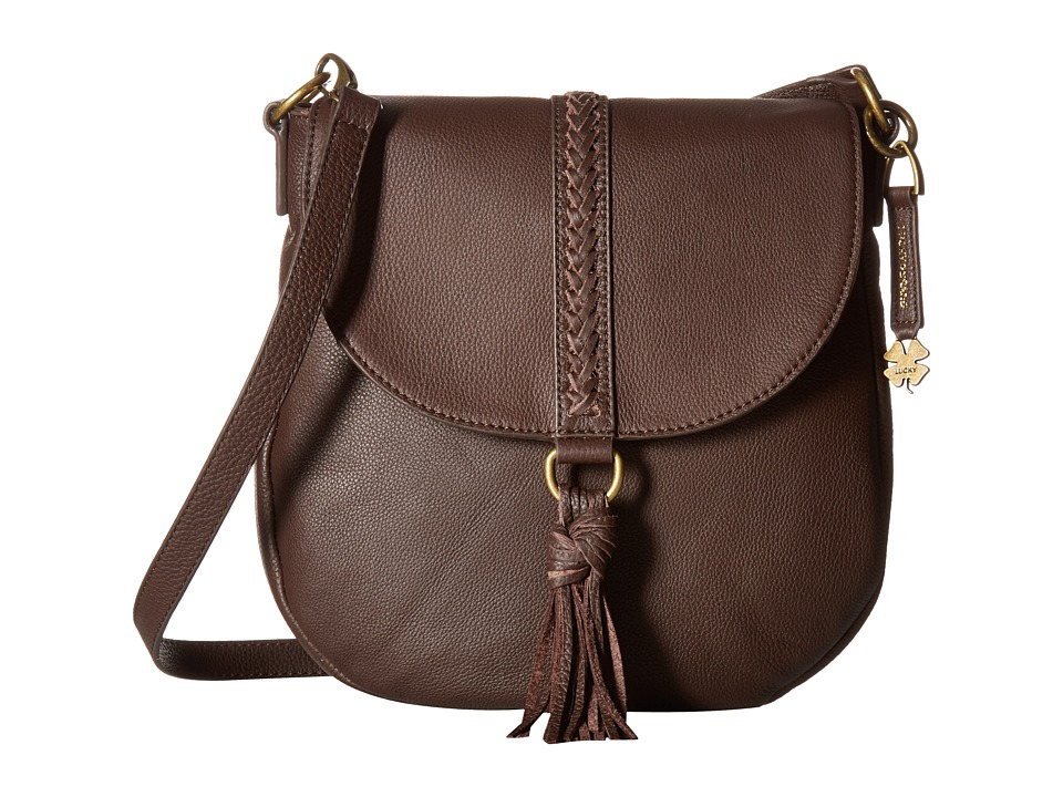 Lucky Brand - Ali Flap Crossbody (Chocolate) Cross Body Handbags